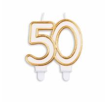 Cijfer kaars Goud 50 jaar