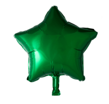 Folie ballon ster groen, 46cm