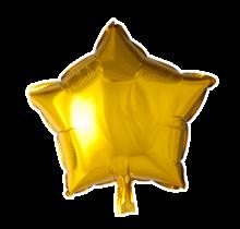 Folie ballon ster goud, 46cm