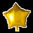 Feest-vieren Folie ballon ster goud, 46cm