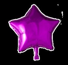 Folie ballon ster roze, 46cm