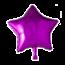 Feest-vieren Folie ballon ster roze, 46cm