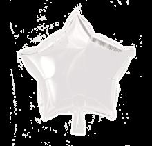 Folie ballon ster wit, 46cm