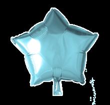 Folie ballon ster licht blauw, 46cm