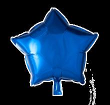 Folie ballon ster blauw, 46cm