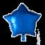 Feest-vieren Folie ballon ster blauw, 46cm