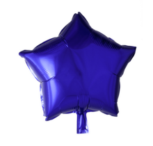 Folie ballon ster paars, 46cm