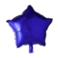 Feest-vieren Folie ballon ster paars, 46cm