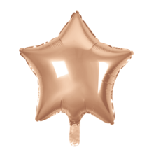 Folie ballon ster rosé goud, 46cm