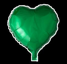 Folie ballon hart groen, 46cm