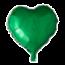 Feest-vieren Folie ballon hart groen, 46cm