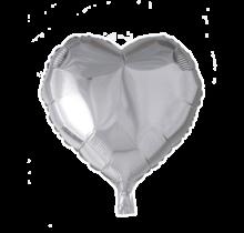 Folie ballon hart zilver, 46cm