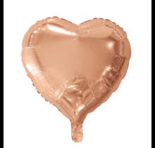 Folie ballon hart rosé goud, 46cm