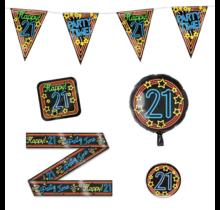 21 jaar verjaardag versiering pakket NEON