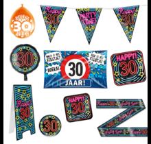 30 jaar verjaardag versiering pakket XL