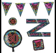 30 jaar verjaardag versiering pakket NEON