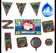 Abraham 50 jaar verjaardag versiering pakket XL