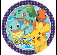 8 Papieren bordjes Pokemon, 23cm