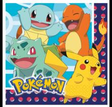 16 papieren servetten Pokemon