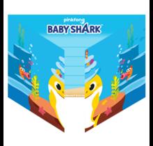 Baby Shark 8 uitnodigingen met envelop