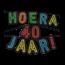 Paperdreams Neon letterslinger - Hoera 40 jaar!