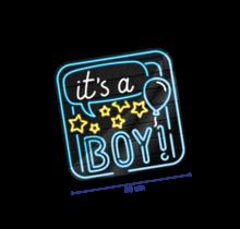 Deurbord - Geboorte jongen - Neon