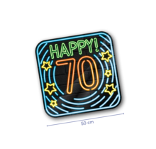 Deurbord - 70 jaar - Neon
