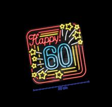 Deurbord - 60 jaar - Neon