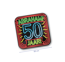 Deurbord - Abraham - Neon