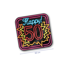 Deurbord - 50 jaar - Neon