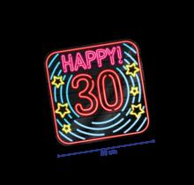 Deurbord - 30 jaar - Neon