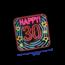 Paperdreams Deurbord - 30 jaar - Neon