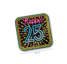 Deurbord - 25 jaar - Neon
