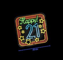 Deurbord - 21 jaar - Neon
