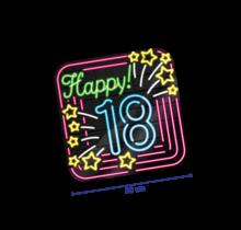 Deurbord - 18 jaar - Neon