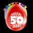 Paperdreams Feest Ballonnen - 50 jaar