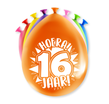 Feest Ballonnen - 16 jaar