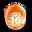 Paperdreams Feest Ballonnen - 16 jaar