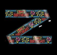 Afzetlint - Happy Birthday - Neon