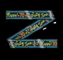 Afzetlint - 70 jaar - Neon