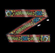 Afzetlint - Abraham 50 jaar - Neon