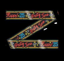 Afzetlint - 25 jaar - Neon