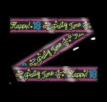 Afzetlint - 18 jaar - Neon