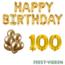 Feest-vieren 100 jaar Verjaardag Versiering Ballon Pakket Goud