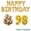 Feest-vieren 98 jaar Verjaardag Versiering Ballon Pakket Goud