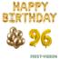Feest-vieren 96 jaar Verjaardag Versiering Ballon Pakket Goud