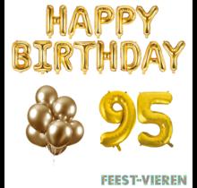 95 jaar Verjaardag Versiering Ballon Pakket Goud
