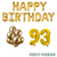 Feest-vieren 93 jaar Verjaardag Versiering Ballon Pakket Goud