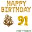 Feest-vieren 91 jaar Verjaardag Versiering Ballon Pakket Goud