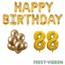 Feest-vieren 88 jaar Verjaardag Versiering Ballon Pakket Goud